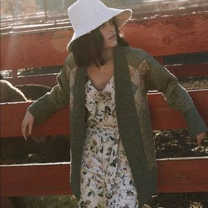 Anthropologie Quilted Patchwork Kimono Wrap Jacket